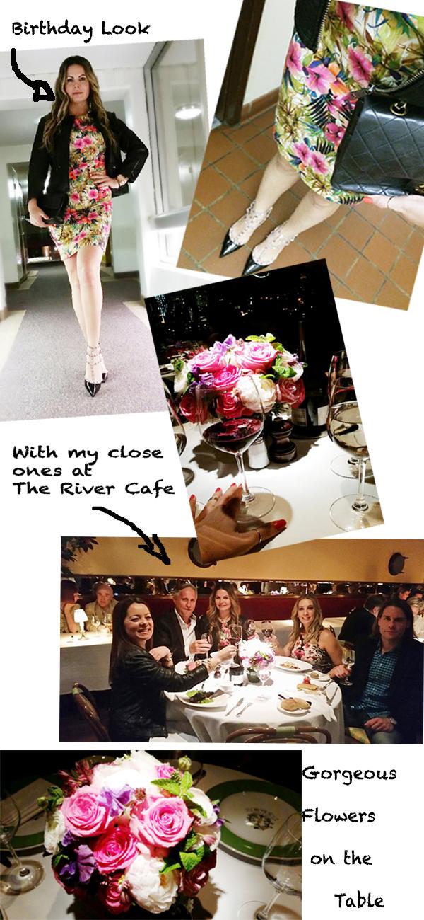 Jantar no The River café em nova Iorque