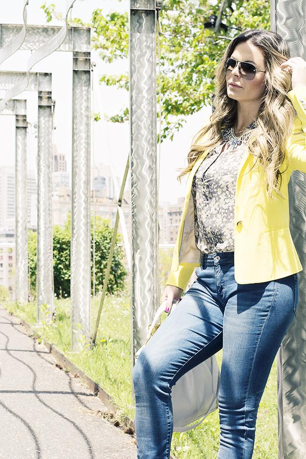 casual e sofisticado blazer amarelo zara