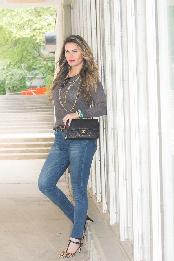 jeans estiloso e elegante no look do dia