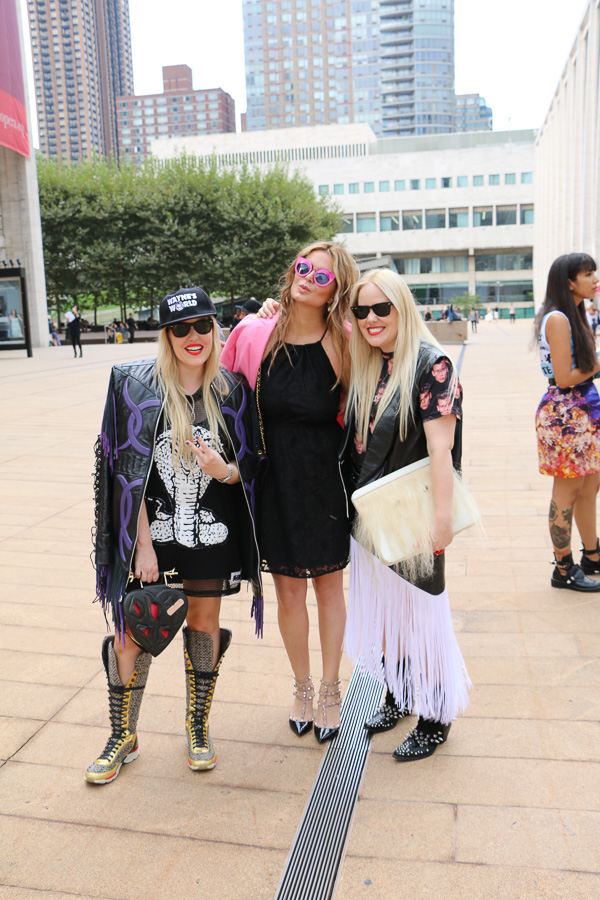 Beckerman bloggers at NYFW MBFW