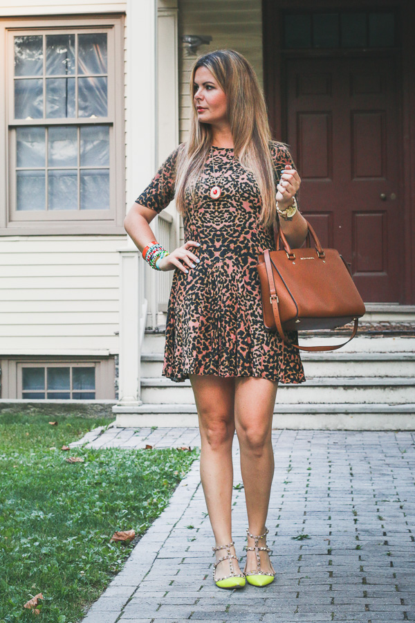 Summer/Fall leopard dress and valentino shoes