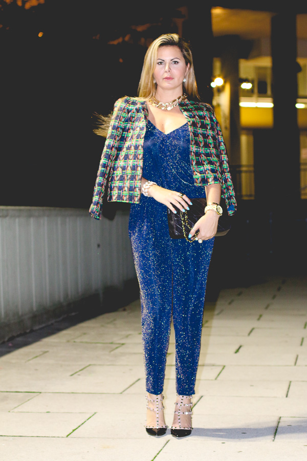 Sparklin jumpsuit for a glamour outfit