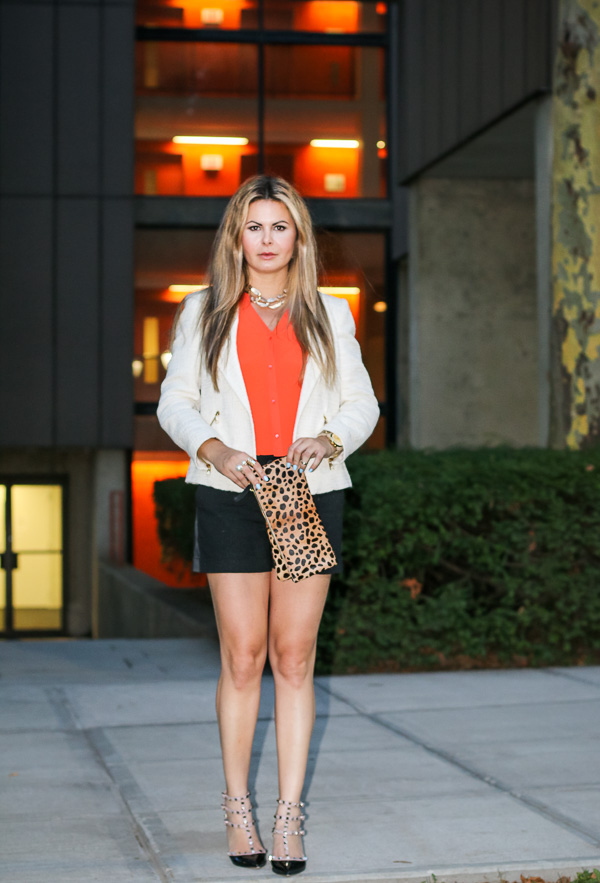 Shorts and blaser for a stylish and elegant look