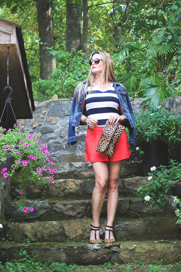 Stipes and red perfect bold combo