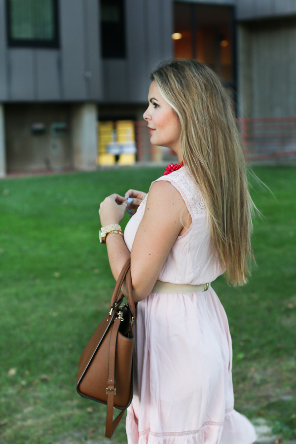 flattery candy dress with valentino flat shoes