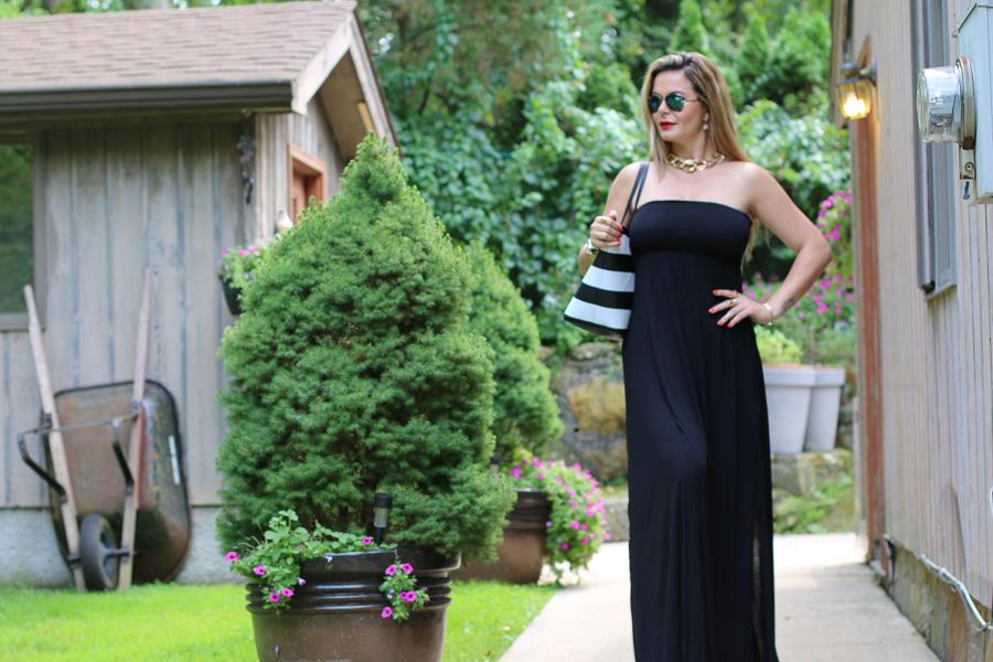 stylish Maxi black dress