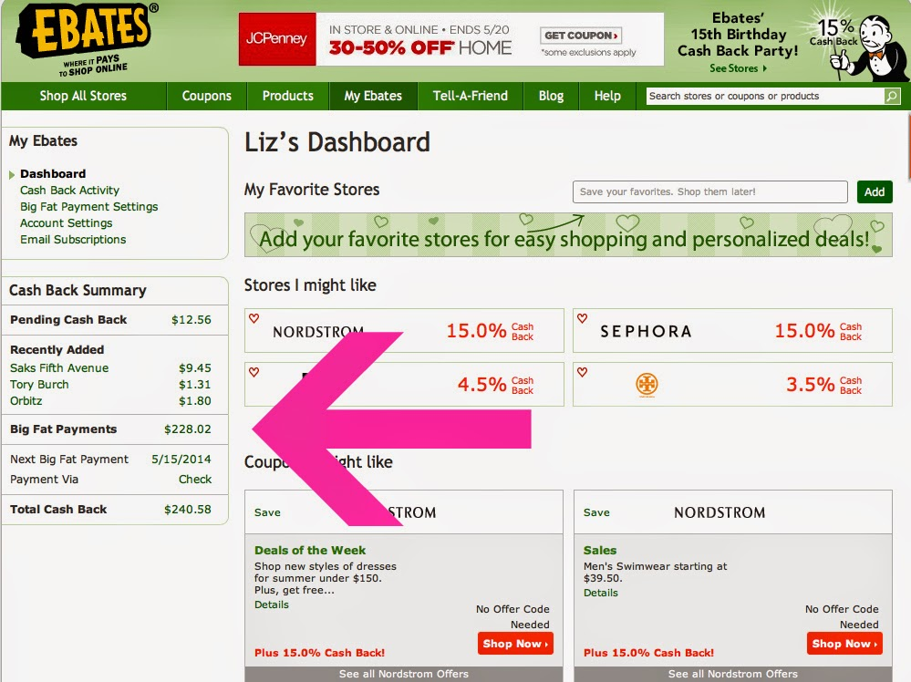 Earn money with ebates