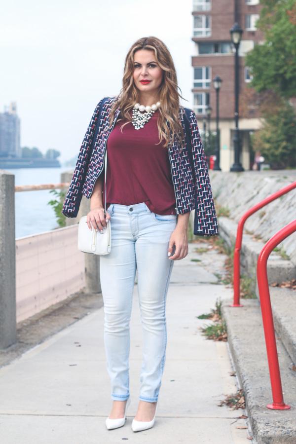 tweed jacket skinny jeans
