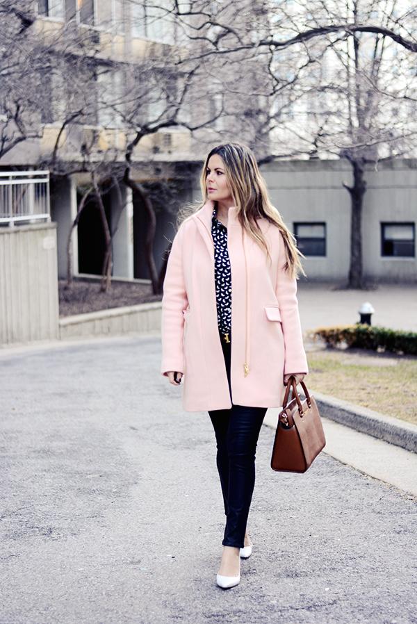 Street chic blush J.CREW coat
