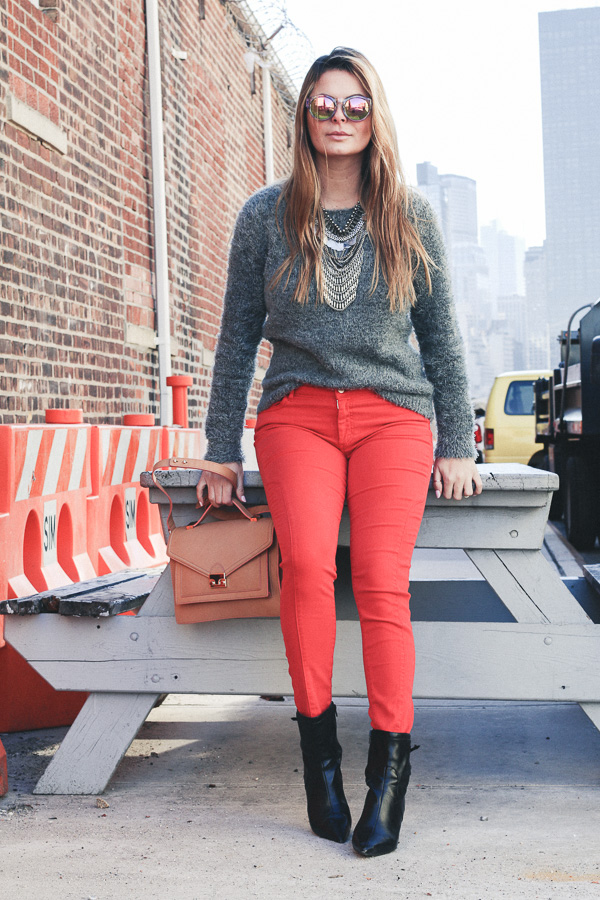 red pants style
