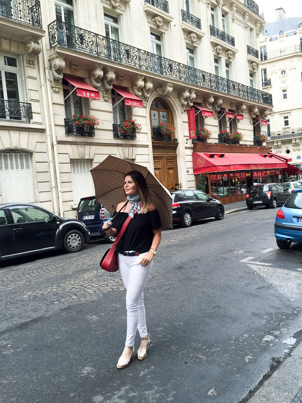 casual chic black and white in Paris