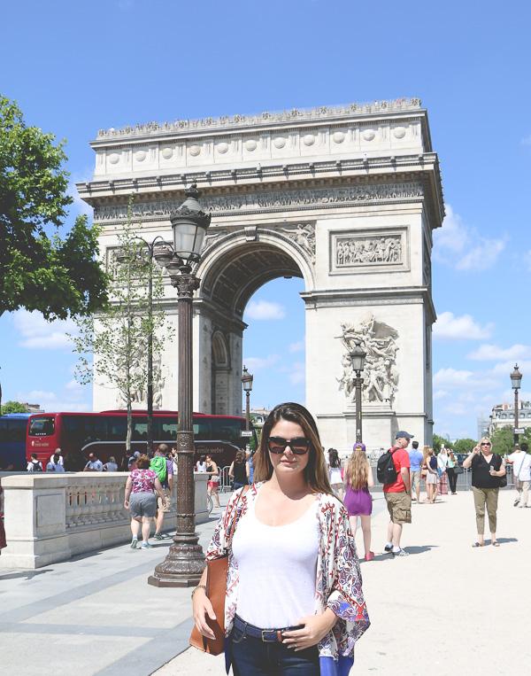 Kimono style and triumph arch paris