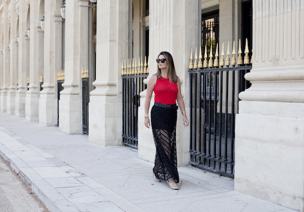 lace Maxi skirt in Paris