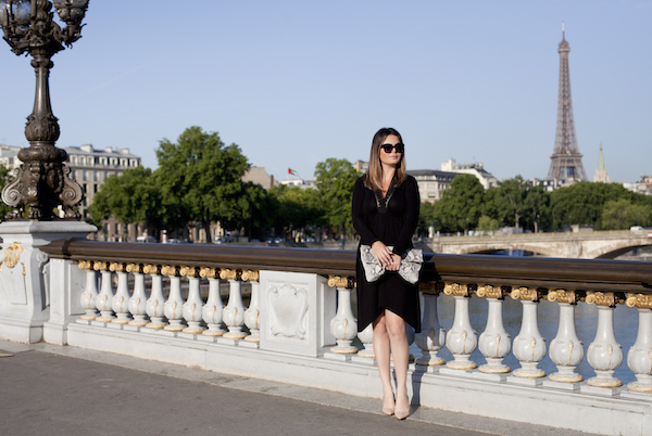 Lady in black in Paris