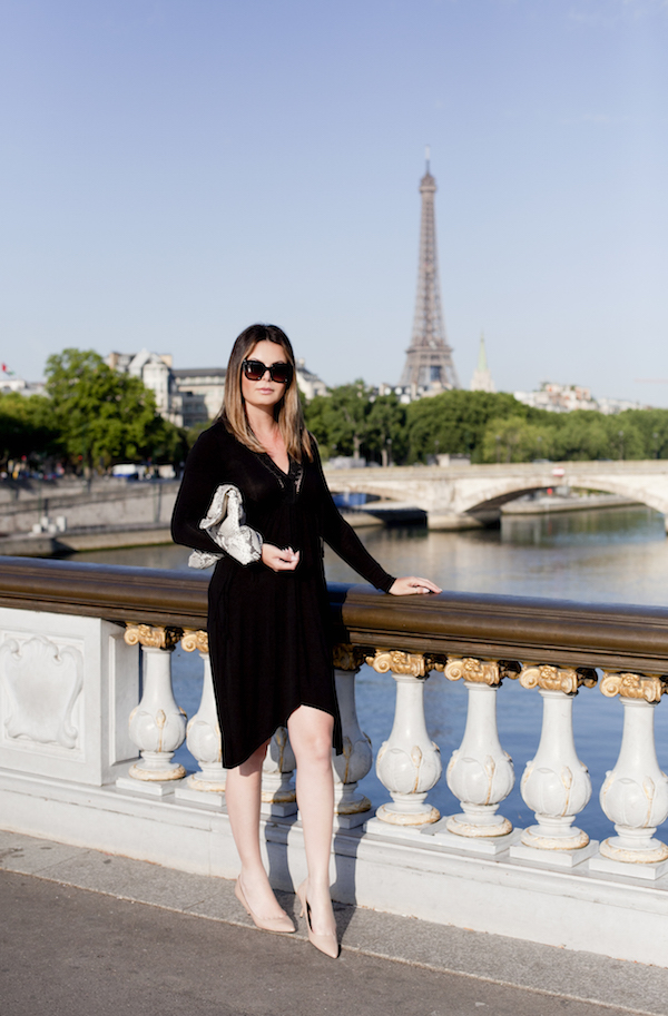 Little black dress in Paris