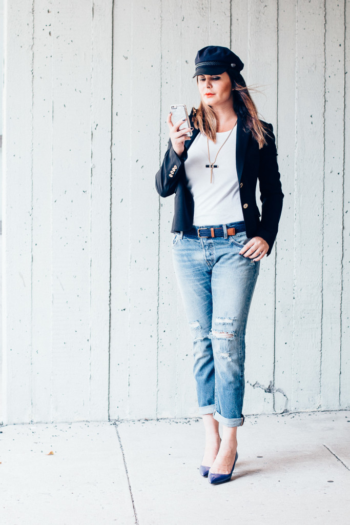 Distressed Jeans edgy chic style
