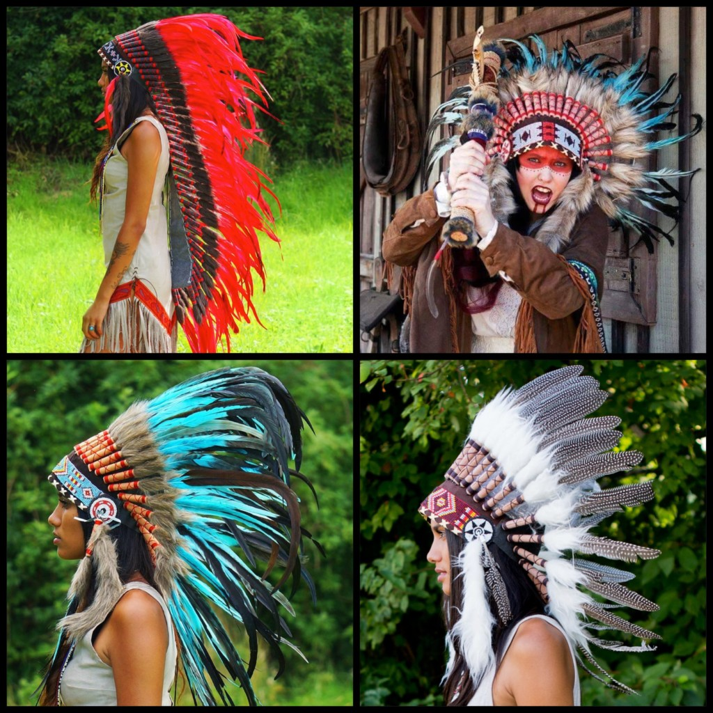 indian headdress style