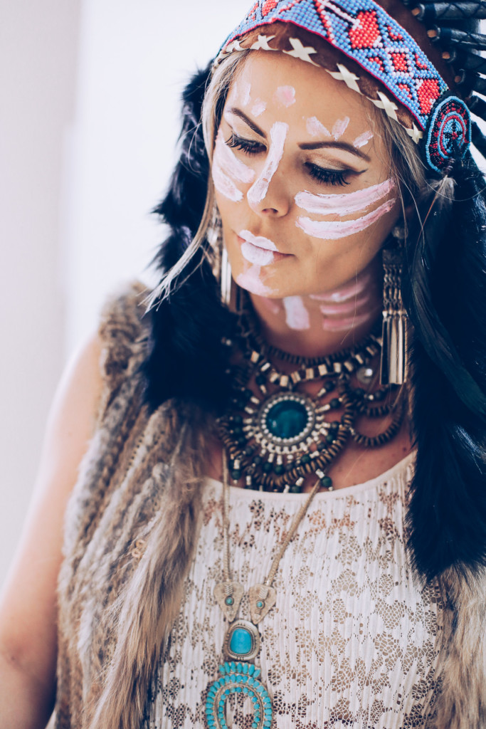 feather headdress outfit
