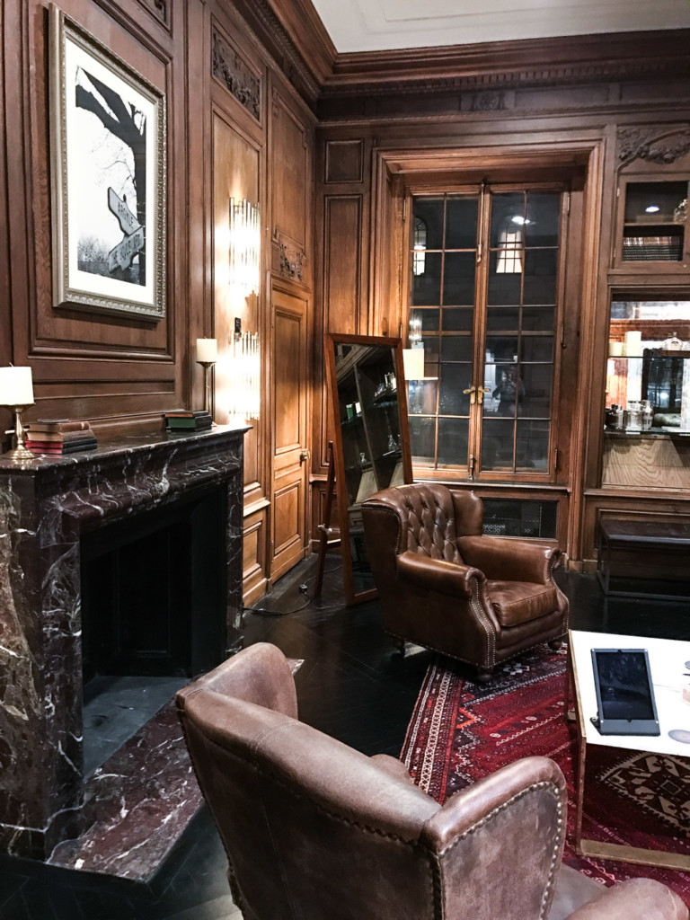 Masculine and elegant interior design decor at trunk club nyc