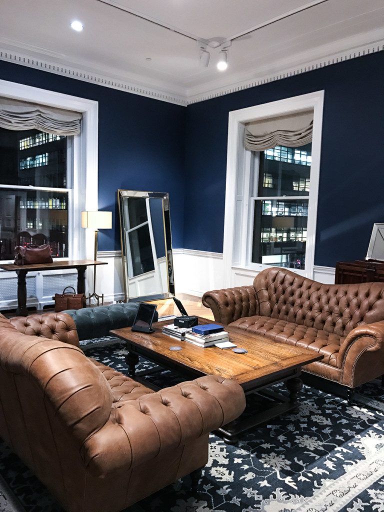 elegant and bold interiors with masculine touch at Trunk Club nyc
