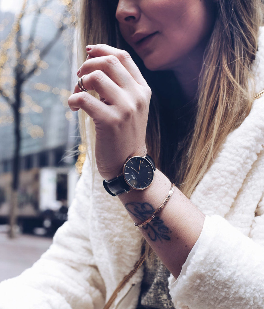 Hilma lifestyle blogger Timeless glam, upgrading her style with Daniel Wellington Watches