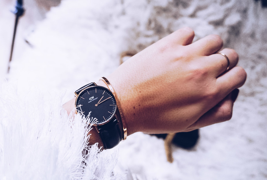 Hilma lifestyle blogger Timeless glam style with Daniel Wellington Watches