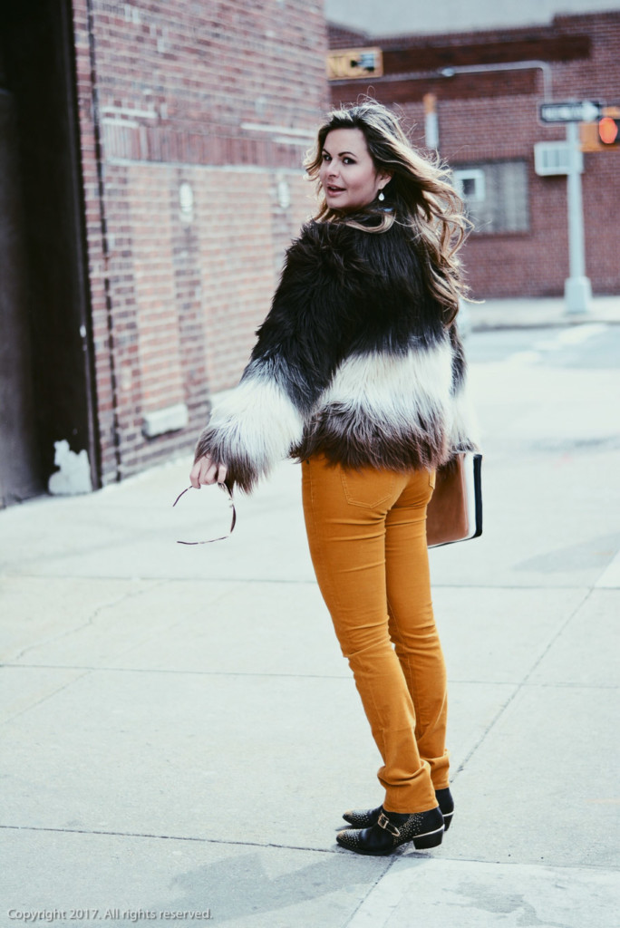 street style faux fur jacket by glamourim.com