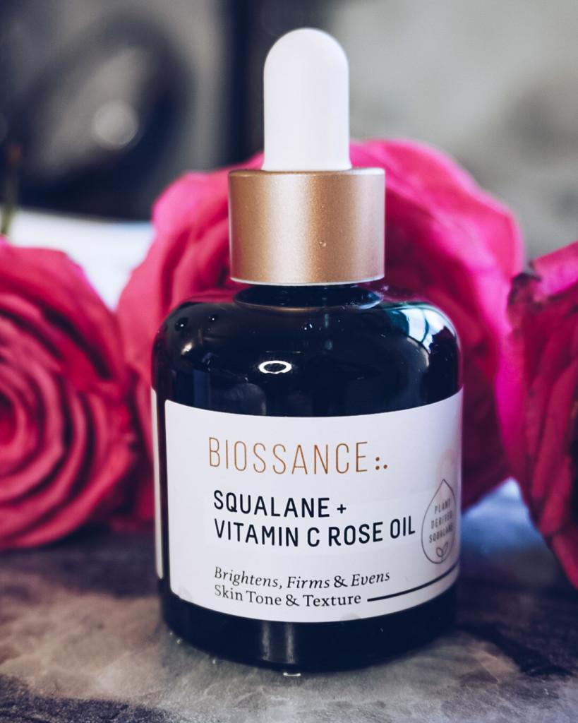 Biossance aqualana _vitamin C rose oil