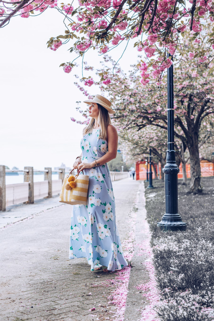 vacation feelings light blue maxi floral dress by glamourim