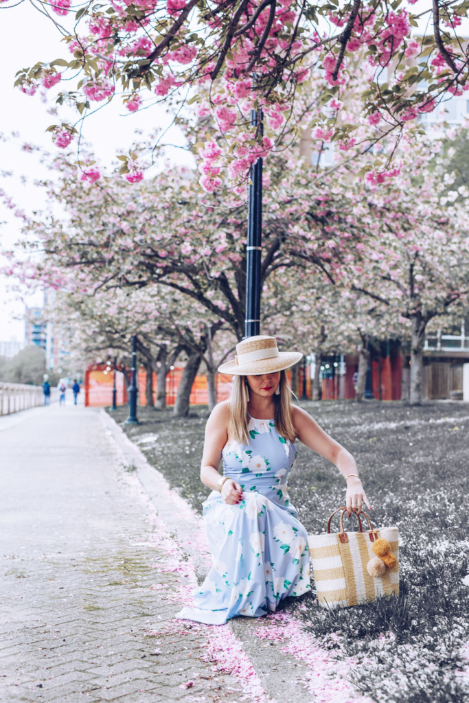 polo classic style maxi floral dress