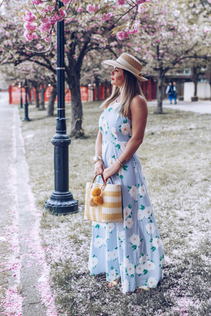 maxi floral dress for polo classic veuve clicquot